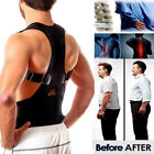 UNISEX POSTURE CORRECTOR ADJUSTABLE SHOULDER BACK SUPPORT BELT BAND BRACE ORNATE