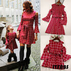 Mommy & Me Family Matching Dress Mother Daughter Lattice Holiday Dresses Outfits