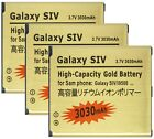 3030mAh High Capacity Gold Battery + USB Dock Charger For Samsung Galaxy S4