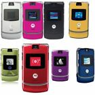 Motorola Razr V3 Factory Unlock Classic Retro Flip Cellular Mobile Phone 7 Color