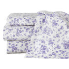 Lavender Floral Sheet Set With Extra Pillowcases, by Collections Etc image