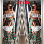 Parent-Child Outfit Mother Daughter Women Girls Bohemia Casual Holiday Dress Hot