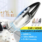 110-220V CORDLESS Car Vacuum Cleaner 120W Auto Portable Wet Dry Handheld Duster