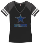 Women's Dallas Cowboys Football Ladies Bling V-neck Shirt (Size S-3XL) $25.49 USD on eBay
