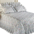 Floral Plisse Ruffled Edge Lightweight Bedspread, by Collections Etc image