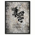 Zodiac Dragon Horoscope Canvas Print, Black Picture Frame Home Decor Wall Art Gi
