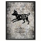 Zodiac Dog Horoscope Canvas Print, Black Picture Frame Home Decor Wall Art Gift