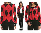 DC Comics Harley Quinn Harleen Halloween Costume Cosplay Cardigan Sweater JRS.