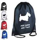 Scottie Dog Grooming Kit Personalised Drawstring Bag with there name