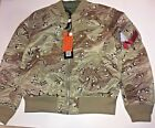 Alpha Industries Men's Bomber Double Camo Reversible Jacket Pick Large or XL MA1