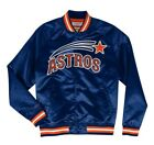 Authentic Houston Astros Mitchell & Ness MLB Tough Seasons Satin Light Jacket on Ebay