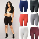 Womens Soft Stretch Casual Shorts Biker Exercise Yoga Workout Size S-XL Seamless