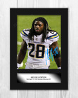Melvin Gordon NFL Los Angeles Chargers A4 signed mounted poster. Choice of frame $8.72 USD on eBay