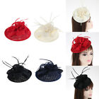 Flower Cocktail Tea Party Headwear Feather Fascinator Top Hat for Girl Women