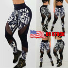 Women PUSH UP Yoga Leggings Fitness High Waist Sports Gym Jogging Pants Trousers