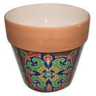 New 1pce Turkish/Urban Ceramic Flower Pot Traditonal 16.5x15cmH
