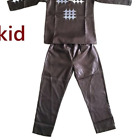 African Clothing For Family Man Son Embroidered Bazin 2Piece Top Pants V21598