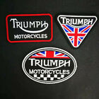 Triumph Motorcycle Punk Biker Iron On Patch Embroidered Applique Sewing Label $1.99 USD on eBay