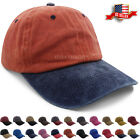 Baseball Cap Washed Cotton Pigment Dyed Polo Style Plain Adjustable Ball Dad Hat