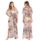 Boutique Womens Digital Print Lightweight Kaftan Ladies Maxi Cover Up Beachwear