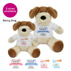 Personalised Name Darcy Dog Soft Toy Christening New Baby Boy Girl Gift Gifts