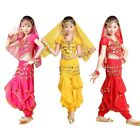 Girls Belly Dance Chiffon Top Harem Pants Suit Child Bollywood Carnival Costume