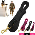 6.5/10/16ft Dog Tracking Lead Durable Nylon Obedience Training Long Lead Black
