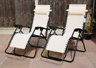 SET OF 2 RECLINING SUN LOUNGERS GRAVITY FOLDING GARDEN CHAIRS OR SPARE PARTS