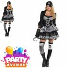Ladies Dark Sea Maiden Medieval Caribbean Pirate Wench Fancy Dress Costume