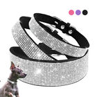 Bling Dog Collar Large X-small Full Rhinestone Dog Necklace Suede Leather S ML