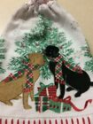 Terry Cloth Kitchen Towel with Ring Topper - 100% Cotton - Handmade - Dog Theme