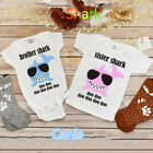 USA Newborn Kid Baby Boys Girls Little Brother Big Sister Romper T-shirt Outfits