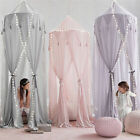Kids BabyBed Canopy Bedcover Mosquito Net Tent Cotton Curtain Bedding Dome Xmas image