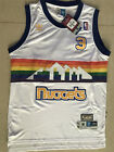 Men's Denver Nuggets NO.3 Allen Iverson Basketball jersey mesh Rainbow white on eBay