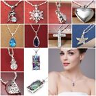 Fashion Jewelry 925 Silver Topaz Photo Frame Pendant Necklace Chain Women Gift