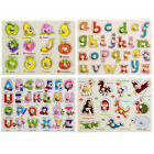Baby Kids Fruit Animal Alphabet 3D Jigsaw Puzzle Board Wooden Educational Toys