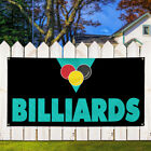 Vinyl Banner Sign Billiards #1 Lifestyle Billiard Marketing Advertising Black $199.99 USD on eBay