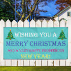 Vinyl Banner Sign Merry Christmas And Happy New Year! Marketing Advertising $134.99 USD on eBay