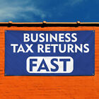 Vinyl Banner Sign Business Tax Returns Fast Business Marketing Advertising Blue $445.47 USD on eBay