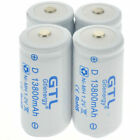1.2V Ni-MH C D Size Rechargeable Batteries Battery High Capacity 12800/13800 mAh