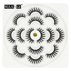 7Pairs 5D Mink Natural Thick Eye Lashes Handmade Soft Long False Eyelashe Makeup
