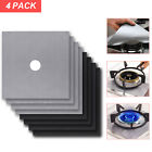 4 Gas Range Stove Top Burner Protector Reusable Non-stick Cover Liner Clean Cook