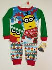 Minions Despicable Me Boys' Christmas Pajamas 2 PIECE Long Sleeve + Pants