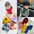 Child Winter Solid Color Scarf Warm Knit Wool Scarf Children Neck Warmer Scarves