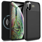 For iPhone XR / XS Max Qi Wireless Charging Battery Case Power Bank Charger Pad