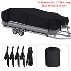 Waterproof Heavy Duty Pontoon Deck Boat Cover 17-24ft Long Beam Width Up to 105""