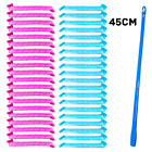 HQ 40Pcs Magic Long Hair Curlers Curl Formers Leverage Rollers Spiral Ringlets