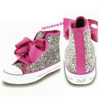 Jojo Siwa - Leagacee Hi-Top Sneakers Glitter Shoes With Pink Bow Girls size 13-4