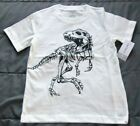 NWT CARTER'S Boys 3T or 4T Dinosaur Skeleton T-REX White T-Shirt Short Sleeve