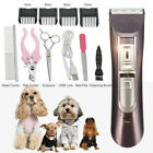 Mute Electric Pet Dog Cat Hair Trimmer Shaver Grooming Clipper Set Speed Control